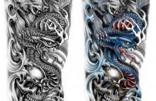Japanese wolf tattoo sleeve - photo#23
